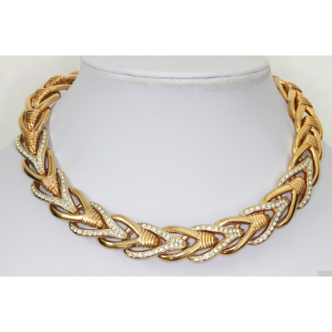 Vintage Herringbone Collar Necklace
