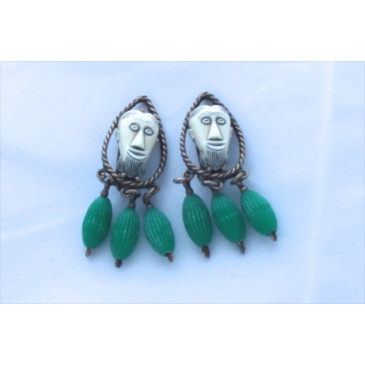 Selro Selini African Face Mask Earrings