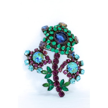 Sherri L. Jennings Huge Flower Brooch