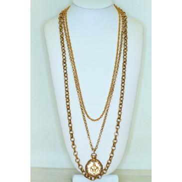 Goldette Vintage Pendant Locket Necklace