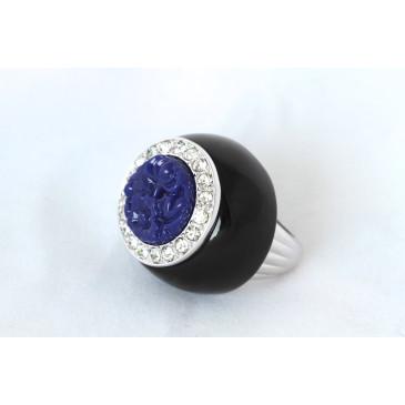 Kenneth Jay Lane Art Deco Lapis Ring