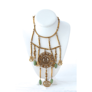 Goldette Asian Jade Pendant Necklace