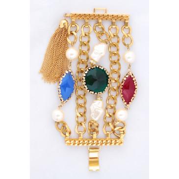 Sherri L. Jennings Crystal Baroque Pearl Bracelet