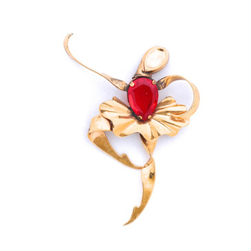 Boucher Ballerina Ruby Pin