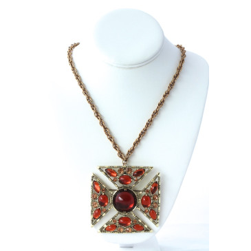 Selro Maltese Cross Pendant Necklace
