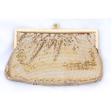 Vintage Gold Mesh Clutch Bag