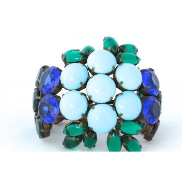 Sherri L. Jennings Sapphire and Emerald Cuff
