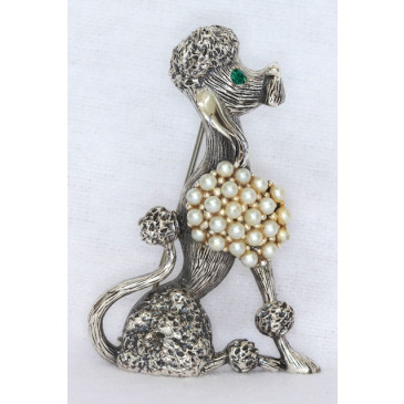 Tortolani Vintage Poodle Pin