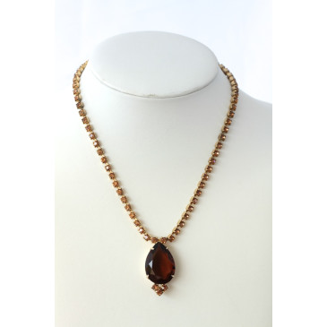 Vintage Juliana Topaz and Rootbeer Necklace