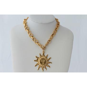 Italian Sun Pendant Necklace