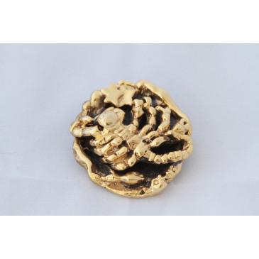 Tortolani Goldplate Scorpio Pin