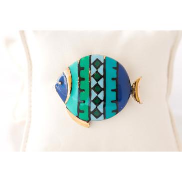 Eisenberg Vintage Enamel Fish Pin