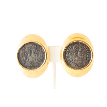 Ciner Coin Clip Earrings