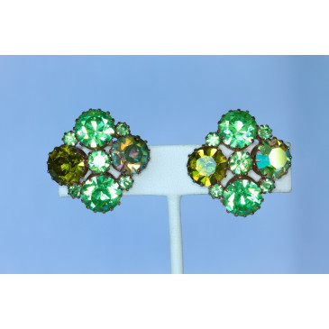 Karu Rhinestone Clip Earrings