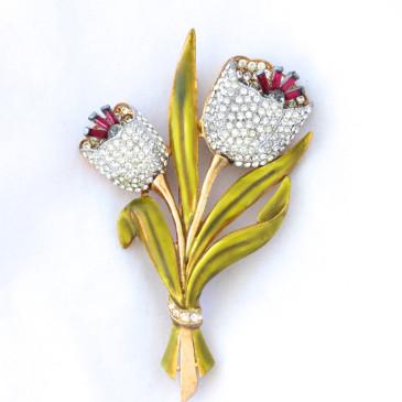 Coro Adolph Katz Tulip Pin