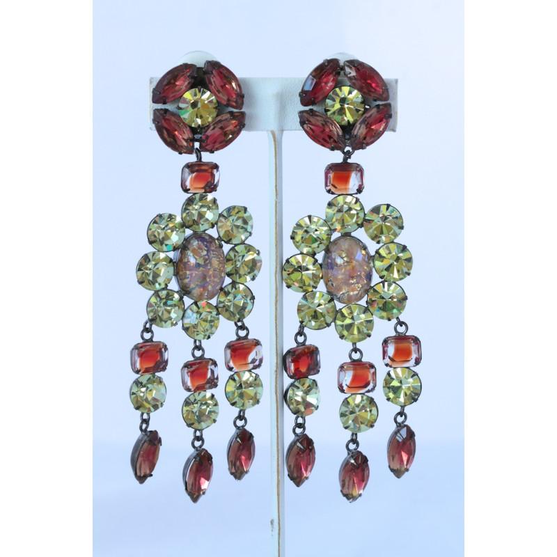 Sherri l jennings crystal chandelier clip earrings aloadofball Image collections