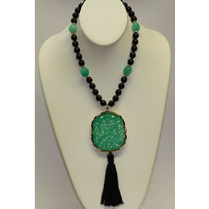 Kenneth Jay Lane Art Deco Pendant Necklace