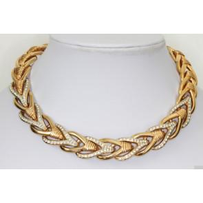 Vintage Herringbone Collar Necklace