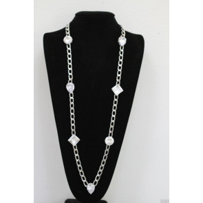 10 Carat CZ Chain Necklace