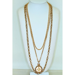 Goldette Vintage Pendant Locket Necklace