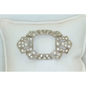 French Paste Art Deco Brooch