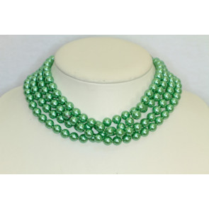 "Vintage Green Pearl 60"" Necklace"