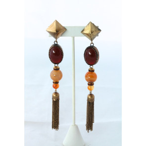 Sherri L. Jennings Amber Drop Earrings