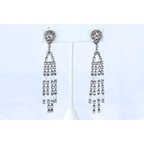 Kenneth Jay Lane Art Deco Crystal Earrings