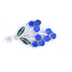 Sapphire Blue Vintage Spray Pin
