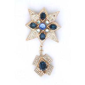 Italian Sapphire Starburst Pin