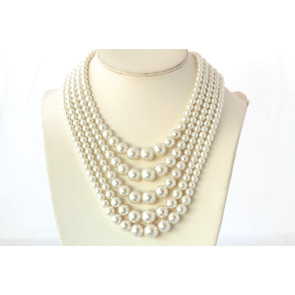 Vintage 5-Strand Pearl Necklace