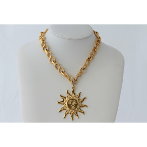 Italian Sun Pendant Necklace