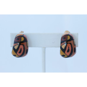 Eisenberg Vintage Enamel Clip Earrings
