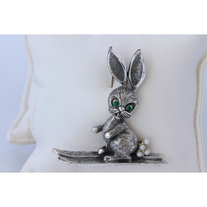 Tortolani Vintage Ski Bunny Pin