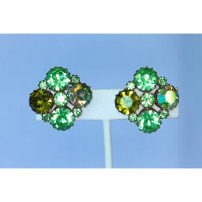 Karu Rhinestone Clip Earrings