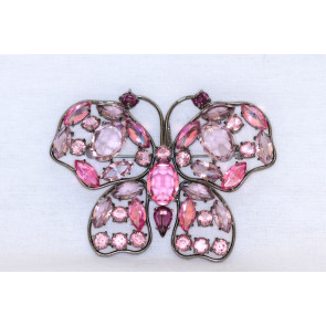 Butterfly CZ Sterling Pin